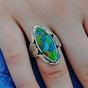 Jewelry - Blue Turquoise in Mohave Ring
